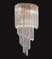 WATERFALL Светильник настенный 60W, ?, H.53cm, W.25cm, D.10cm, triangular optical glass/murano clear