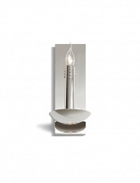 FLOATING CANDLES Светильник настенный 40W, E14, 360x160x200mm, stainless steel