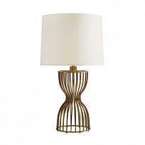 DRESSMAKERS LAMP Светильник настольный W.24cm, D24.1cm, H.77cm, solid brass/off-white chinette shade
